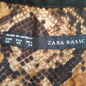 Zara Tops - ZARA Snakeskin Blouse